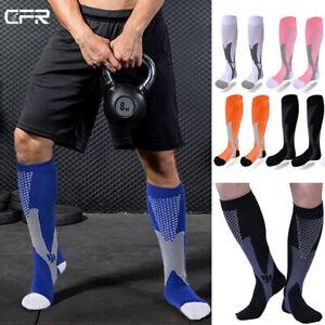 Copper Compression Socks Running Anti Fatigue Graduated Travel Flight Sleeve UK