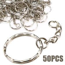 50x Schlüsselringe Schlüsselanhänger mit Verbindungskette Modeschmuck 25mm Gift