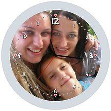 OROLOGIO VETRO ROTONDO 38 diam. personalizzato con la tua FOTO!!!!!!