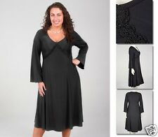 NEW Zaftique ECHO LACE DRESS Black 0Z 1Z 2Z 3Z 4Z 5Z / 14 16 L XL 1X 2X 3X 4X 5X