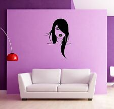 Wall Stickers Vinyl Decal Girl Woman Face Fashion for Bedroom  z1241