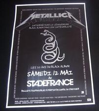 Metallica Repro Concert Poster Stade de France 2012 European Black Album Tour