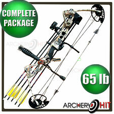 Vulture Camo Compound Bow 45-65lb Ready to Shoot Package Target or Hunting