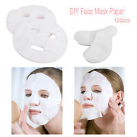 100Pcs /unCompressed Cotton Facial Face Mask Sheet Paper DIY Natural Skin Care