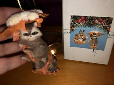 """Charming Tails """"Raccoon On Leaves ornament"""" Dean Griff Silvestri"""