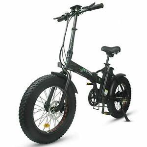 "Folding 20"" 48V 12.5AH 500W Electric FatTire City E Bike Bicycle Ebike LCD"