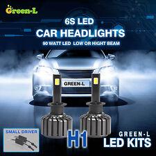 H1 90W 9800LM Super White CREE COB Led Headlight Kit Hi or Low Beam Bulb Lights