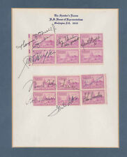 GEORGE H.W. BUSH - STAMP(S) SIGNED WITH CO-SIGNERS