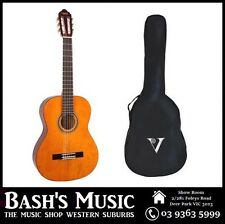 Valencia 3/4 Size Guitar and Bag Pack Beginners Guitar Natural NEW