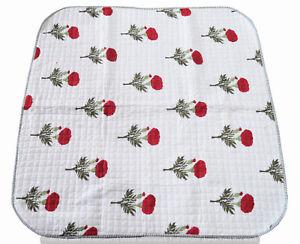Indian Cotton Baby Quilt Blanket Ethnic Nursery Bedspread Hand Block Floral Art