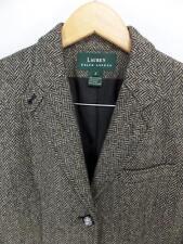 Womens RALPH LAUREN Brown TWEED Blazer 8 Equestrian Jacket