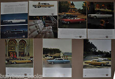 1966 CADILLAC advertisement x7, De Ville Fleetwood Brougham etc, + older models