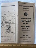 1972 Union Pacific Railroad Company Eastern District Wyoming Division ETT No. 49