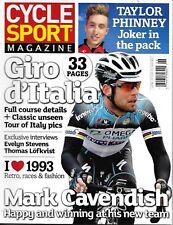 Cycle Sport Magazine Giro D'italia Mark Cavendish Taylor Phinney 1993 Retro 2013