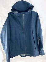 UNIQLO Rain Jacket Light Coat Mens XL Navy Blue Hood Wind Proof