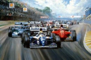 "Alan Fearnley ""TRIBUTE"" Ayrton Senna 1994 Rothmanns Williams FW16 579 / 850"