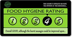 Personalised Funny Novelty Food Hygiene Style Aluminium Sign
