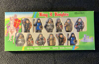 Vintage King & Knights 12 Piece Vinyl Figures Set 1991 Soma New In Box