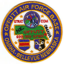 USAF AFB PATCH, OFFUTT AFB NEBRASKA, STRAT COM, 55TH WG AFWA,   Y