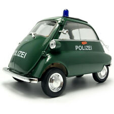 118 Scale 1955 Vintage Bmw Isetta Police Model Car Diecast Vehicle Collection