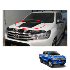 Matte Black Bonnet Hood Scoop Cover Trim To Toyota Hilux Revo Pickup 2015 - 17