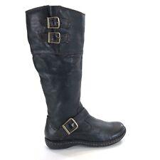 da4b9c514c1 BOC BORN Tall Riding Boots Brown Leather Womens 6 M C39903 Zip Buckle