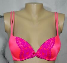 VICTORIA'S SECRET Hot Pink Very Sexy Pink Push Up Underwire Bra 34B Purple Lace