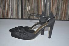 Ann Taylor Black Ankle Boots Leather Size 9 M