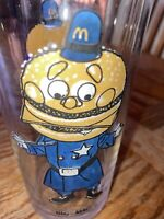 """McDonalds Vintage 1977 Collector's Series """"Big Mac"""" Drinking Glass, Police"""