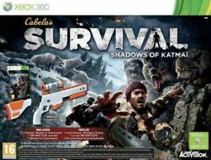 xbox 360 cabela's survival shadow katmai bundle rifle top shot brand new fr uk