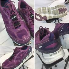 Hoka One One Conquest Sz 10.5 Women Purple Running Shoes Excellent YGI A9S-116