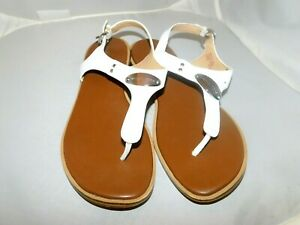 MICHAEL KORS, WHITE  SANDALS, SIZE 9M, LEATHER UPPER