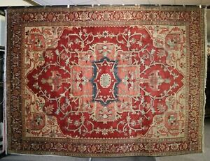 """9'0"""" x 12'0"""" ft. Serapi Hand Knotted Oriental Wool Rug"""
