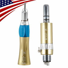 Dental NSK Style Low Speed Straight Handpiece 4 Hole Air Motor E-type GOLD VN-M1
