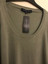 WOMENS FRENCH CONNECTION | LADIES LIME TONE FCUK COTTON JUMPER TOP | L:23 W:15