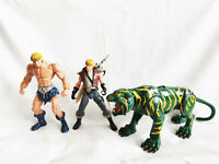 Prince Adam Battle Cat He-Man Sword Masters of the universe Action Figure MOTU