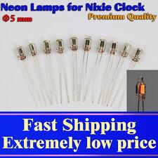 50pcs Neon Lamp φ5x12mm Orange for Nixie Clocks. Glow Voltage AC65V DC90V