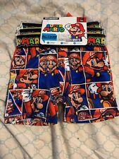 Super Mario Boys Underwear Sz 4 Xsmall Action 3 Pack Boxer Briefs