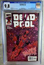 Deadpool #14 Marvel 1998 1st Apprnc Ajax CGC 9.8 NM/MT White Pages Comic U0041