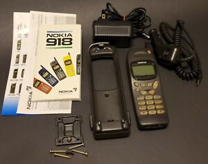 Vintage Nokia 918 Cell Phone Bundle - For Parts or Repair or Prop