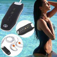 New Black Clip Waterproof IPX8 Mp3 Player 4GB FM Radio Swimming Diving Earphone