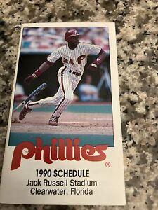 Clearwater Phillies--1990 Pocket Schedule--Tampa Tribune