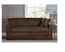 Sure Fit Sure Fit Acadia Separate Seat Sofa Slipcover - Chocolate/Brown