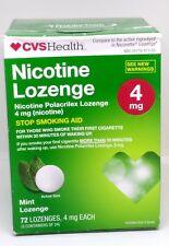 CVS Nicotine Lozenge 4 mg Mint Flavor 72 Count Exp - 06-2018