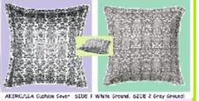 """IKEA Akerkulla Pillow Cover Gray White Reversible Folk Floral Print 26"""" Retired"""