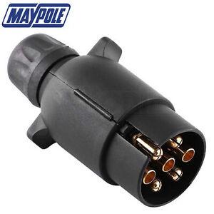 Maypole 12N Type 7 Pin Plastic Trailer Caravan Plug Wiring Lights 12v Trailer