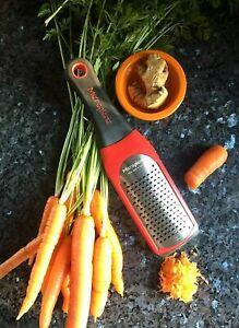 Microplane Artisan  COARSE  Zester Grater Shredder Italian RED Kitchen Rasp New