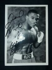 Floyd Mayweather Jr autograph 5 x 7 inch black and white photo