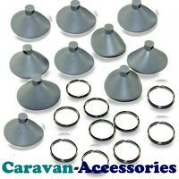 10 x Suction Discs For Internal Thermal Screen Silver Camper Blinds Cab Suckers