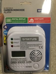 STATUS carbon monoxide alarm .Warning Alarm Home, Caravan,boat,Camping.BARGAIN